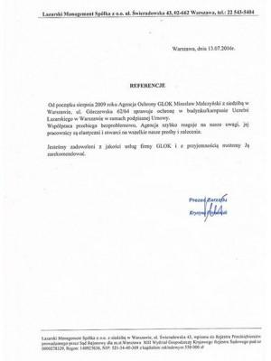referencje agencja ochrony Glok