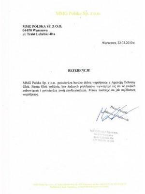 referencje ochrony agencji Glok
