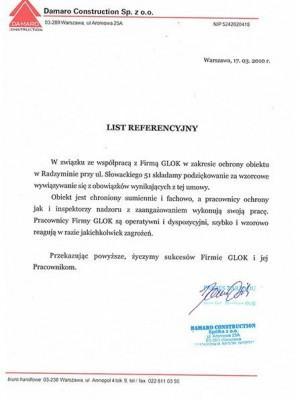 Firma Glok referencje
