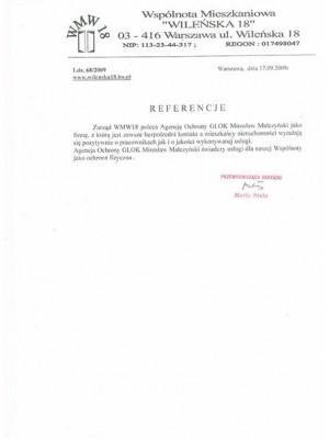 referencje od prezesa zarządu firmy