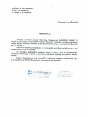 referencje od Altipland
