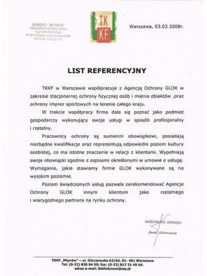 list referencyjny ochrona Glok