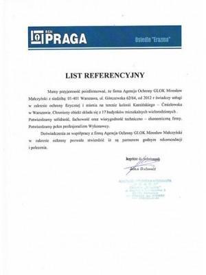 referencyjny list
